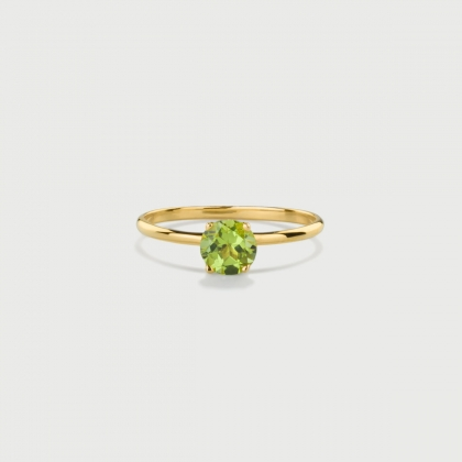 Peridot Ring in 14K Yellow Gold-AlmaDiPietra