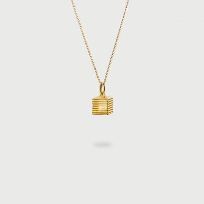 """Cage"" 14K Gold Pendant of ""Linned Drops"" Collection-AlmaDiPietra"