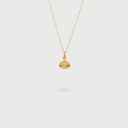 "​""Gravity"" 14K Gold Pendant of ""Linned Drops"" Collection​-AlmaDiPietra"
