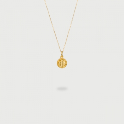 "​​""Perspective Star"" 14K Gold Pendant of ""Linned Drops"" Collection​​-AlmaDiPietra"