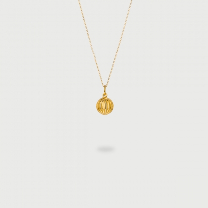"​​​""Sphere"" 14K Gold Pendant of ""Linned Drops"" Collection​​-AlmaDiPietra"