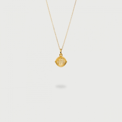 """Cronus"" 14K Gold Pendant of ""Linned Drops"" Collection-AlmaDiPietra"