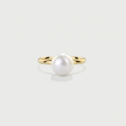 ​Freshwater Pearl Ring in 14K Yellow Gold-AlmaDiPietra
