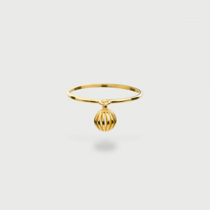 """""""Sphere"""" 14K Gold Ring of """"Linned Drops"""" Collection-AlmadiPietra"""
