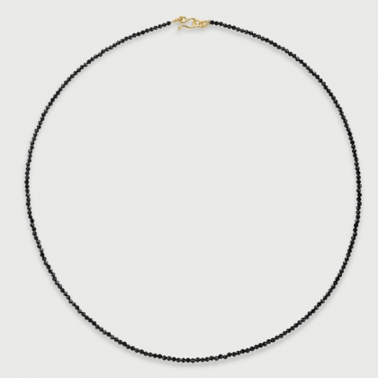 Sparkling Spinel strand bead necklace in 14K Yellow Gold-AlmaDiPietra