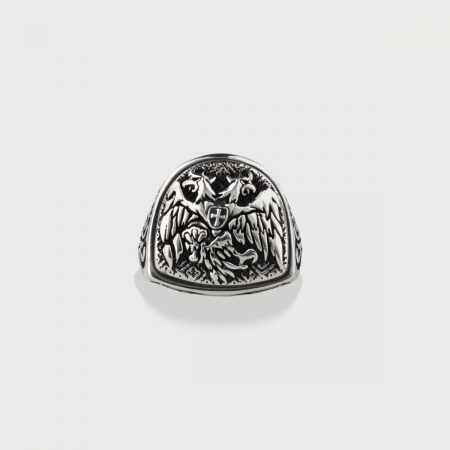 ​Signet Silver ​Ring for Men-AlmaDiPietra