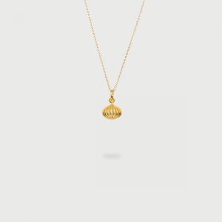 """""""Gravity"""" 14K Gold Pendant of """"Linned Drops"""" Collection-AlmaDiPietra"""