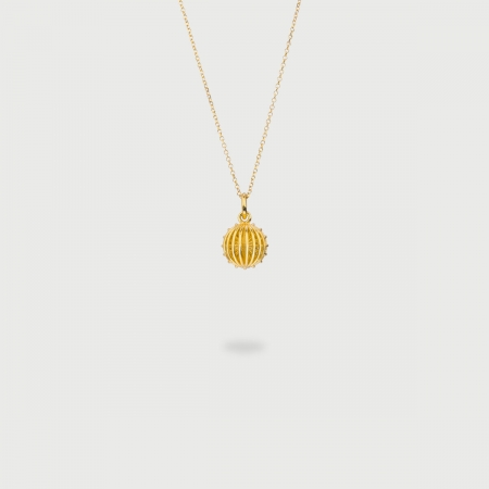 "​​​""Caged Sun"" 14K Gold Pendant of ""Linned Drops"" Collection​​​-AlmaDiPietra"