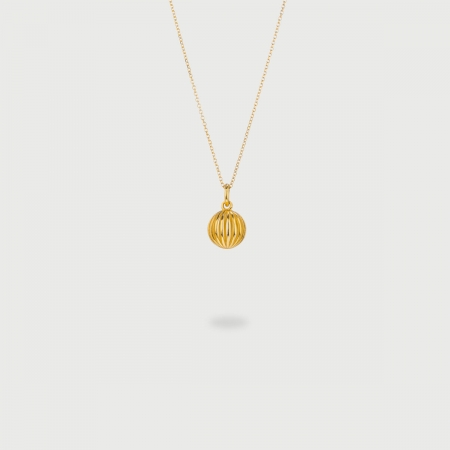 """""""Sphere"""" 14K Gold Pendant of """"Linned Drops"""" Collection-AlmaDiPietra"""
