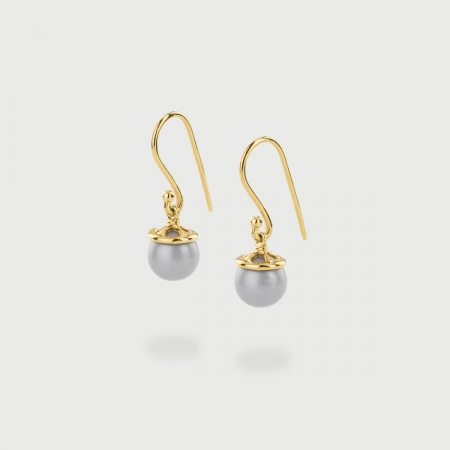 Freshwater Pearl Drop Earrings in 14K Gold-AlmaDiPietra