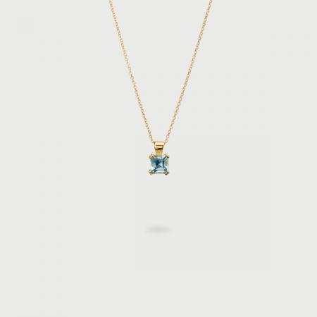Sky Blue Topaz Pendant in 14K Yellow Gold-AlmaDiPietra