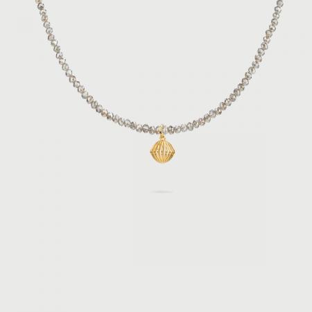 """Cronus"" 14K Gold Pendant of ""Linned Drops"" Collection-AlmaDiPietra"